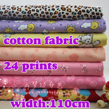 """Soft Printed Cotton fabric, brushed flannel cotton fabric, baby clothes, 43"""" wide, 2 yards/ lot , Free shipping(China (Mainland))"""
