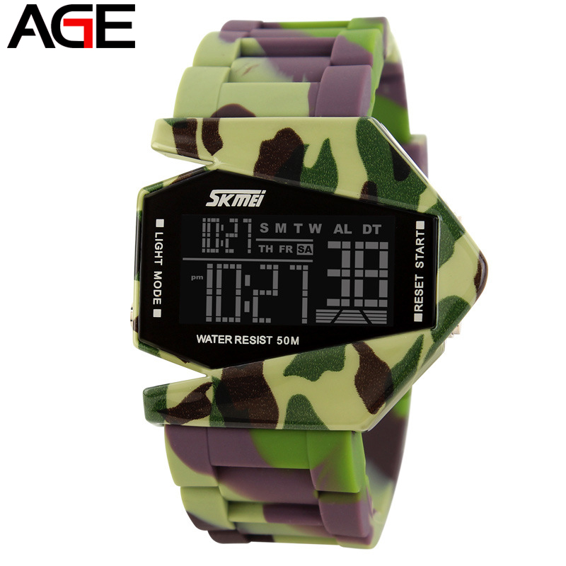 Skmei Brand LED Digital Military Army Watches 50M Waterproof Colorful Aircraft model Men Women Kids Sports Watch relojes AGE(China (Mainland))