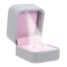 Buy White Velvet Ring Box Light Jewelry Display Storage Jewelry Organizer Gift Box Jewelry Display Ring Box Wedding Decoration for $4.05 in AliExpress store