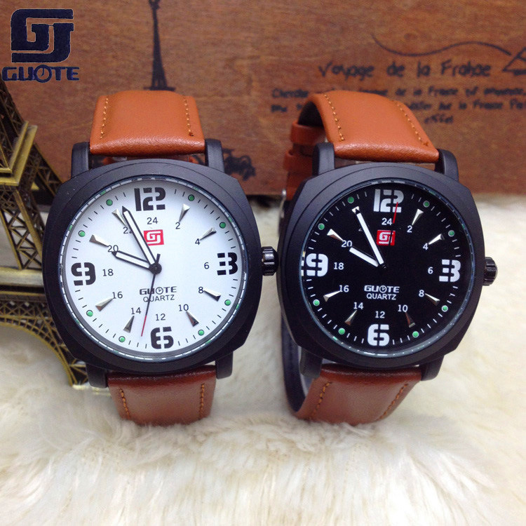 2015 Watch Export Quartz Men Products New Geneva Wear Leather Burst Gt Table Movement Watches Male Military Factory Direct Best(China (Mainland))