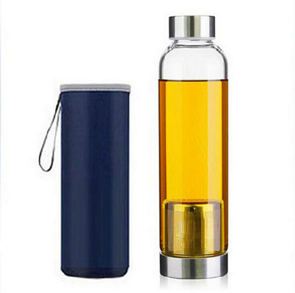 550ML Drinkware Heat-resistant Glass Sport Water Bottle With Filter Creative Kettle Send Travel Bag Pote De Vidro Creative 11(China (Mainland))