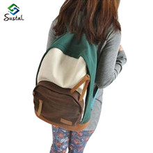 Casual women's colorful canvas Plaid backpacks