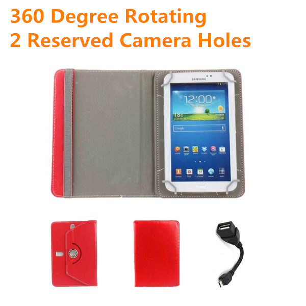 MODECOM FREETAB 8001 HD X2/8000 IC/8014 IPS X4 8 inch Tablet Universal 360 Degree Rotating PU Leather Cover Case Free OTG Cable(China (Mainland))