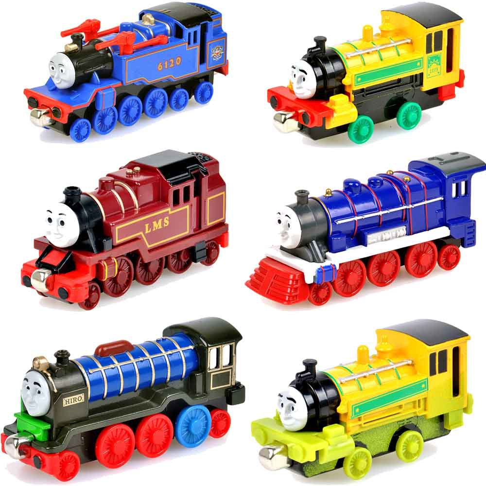 6pcs/lot Magnetic metal Tomas and Friends train head toys for kids<br><br>Aliexpress