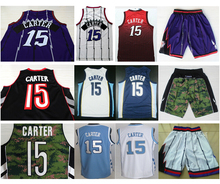 2015 New Fashion Toronto #15 Vince Carter Jersey Cheap New Material Rev 30 Stitched Logo Embroidery Basketball Jersey & Shorts(China (Mainland))