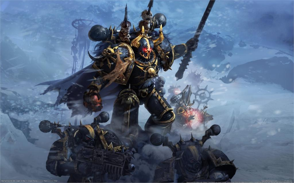 video games Warhammer 40000 Chaos Space Marine 4 Sizes Silk Fabric Canvas Poster Print(China (Mainland))