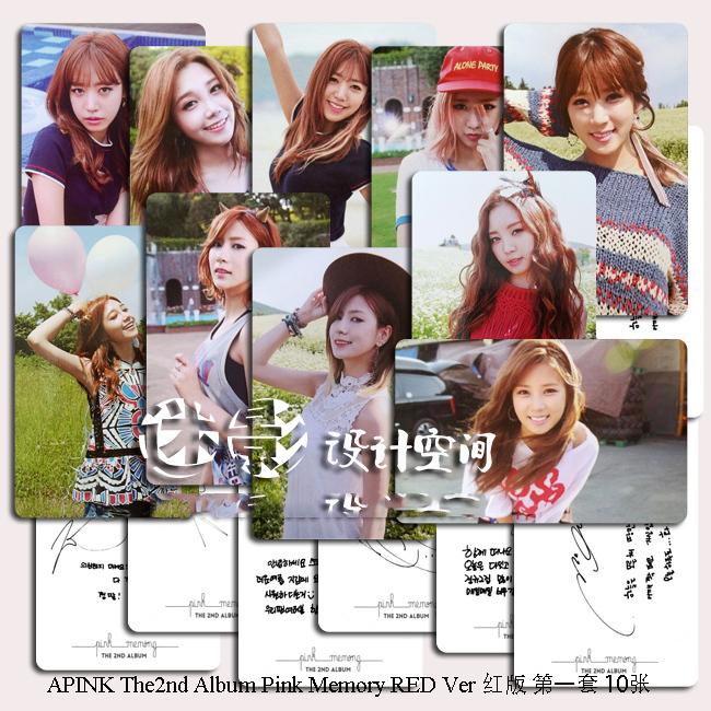 Гаджет  14pcs/lot 8.6*5.4cm Kpop  APINK the 2nd mini album PINK MEMORY photo cards None Офисные и Школьные принадлежности