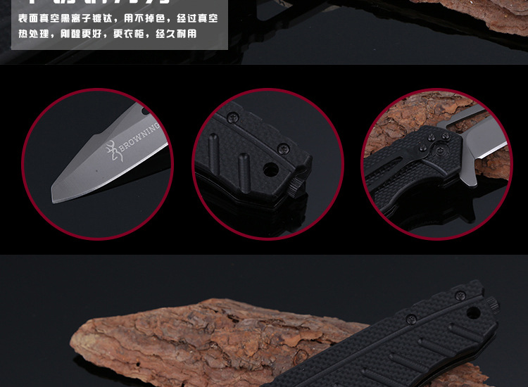 Buy BROWNING X39 Folding Blade Knife 5Cr13Mov Stainless Steel Survival Hunting Camping Knife Multifunction Pocket EDC Tools Wi cheap