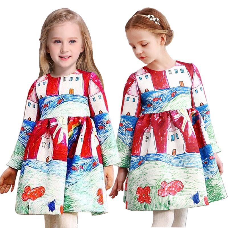 European design baby girls dress cotton kids clothes princess children dress summer spring toddler girl clothing casual dresses(China (Mainland))