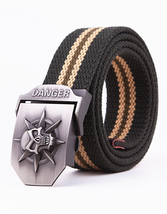 Canvas Belt Tactical Military Skull for Men Equipment Hip Men's Ceinture Wide Strap Strong Buckle Free Shipping(China (Mainland))