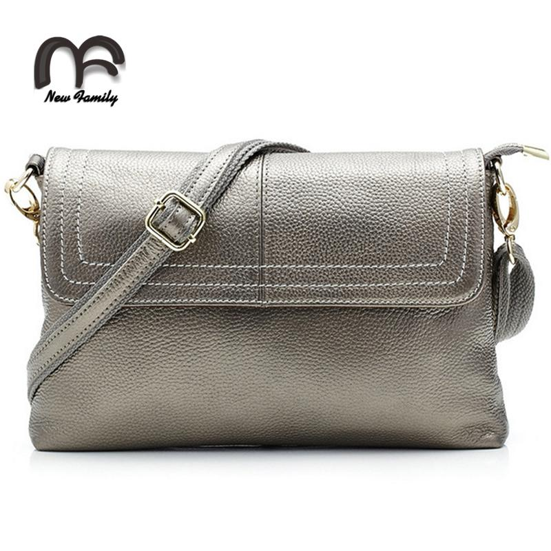 2016 Genuine Leather Women Bag Party Clutch Evening Bags Fashion Ladies Shoulder Crossbody Messenger Bags for women