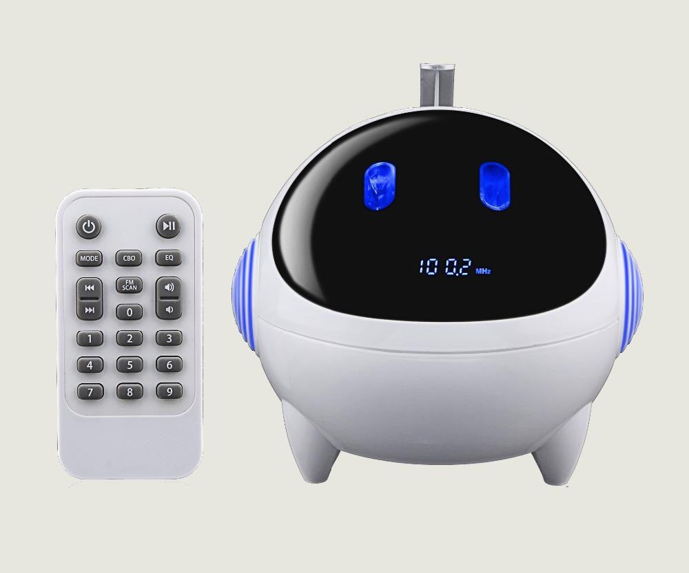 Mini beautiful Alien style Subwoofer Wireless Bluetooth Speaker Boombox Hi-fi Hifi Altavoz Altavoce Parlantes Enceinte FM Radio(China (Mainland))