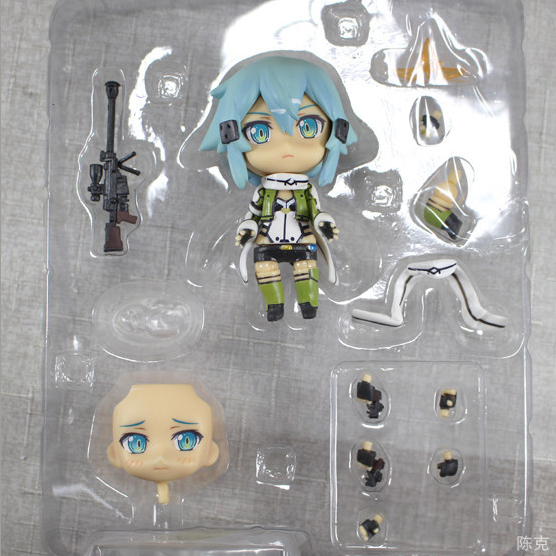Sword Art Online Asada Shino Sinon PVC Action Figure Toy Set 10mm Japanese Anime PVC figure(China (Mainland))
