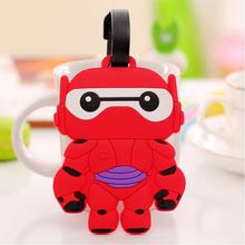 Travel Accessories Luggage Tag Suitcase Cartoon Style Cute Baymax Cat Fashion Silicon New 1 Piece(China (Mainland))