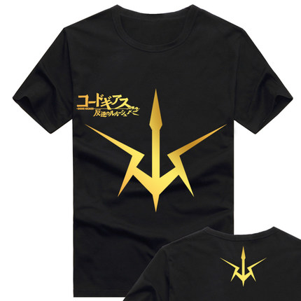 2016 Code Geass Lelouch of the Rebellion T Shirt Anime Japanese Famous Animation Novelty Summer Men's T-shirt Cosplay Clothing(China (Mainland))