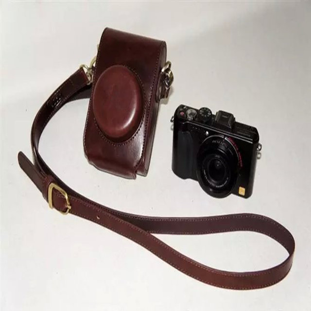 Brown Luxury Camera Case Bag Leather Case Cover for Leica D-LUX6 Camera Free Shipping(China (Mainland))