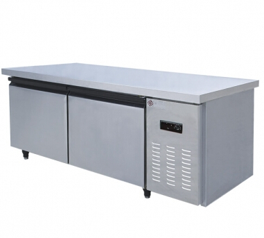 TW0.25L2T models kitchen refrigerator,freezers,Six single-temperature freezers,1.5 m brass refrigerated bench(Hong Kong)