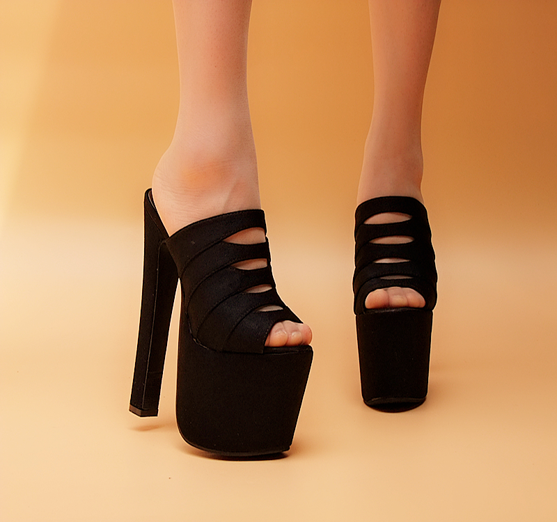 aliexpress buy black 17cm high heeled shoes