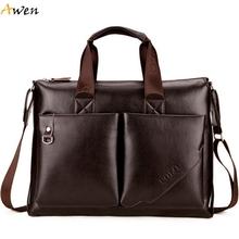 Авен — новое поступление высокое качество большой свободного покроя бизнес мужской портфель с передний карман, Высокая емкость малетин хомбре человек мешок