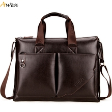 Awen - New Arrival High Quality Large Casual Business Men's Briefcase With Front Pocket,High Capacity Maletin Hombre Man Bag(China (Mainland))