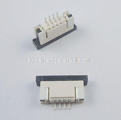 50 Pcs FPC FFC 1mm Pitch 4 Pin Drawer Type Ribbon Flat Connector Bottom Contact<br><br>Aliexpress