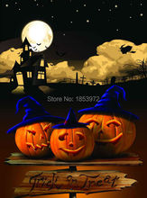 5X7ft halloween scenic party background children studio Photography backdrops for photo shoot computer digital printing HA-089