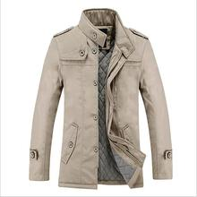 Plus 5XL Men jacket men coat thick cotton jacket Design outerwear autumn winter jacket windbreaker 2015 new arrival men clothes(China (Mainland))