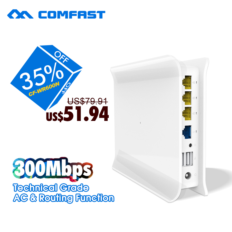 300mbps High Range Wireless Router, RJ45 Wireless Router technical grade AC+routing function free shipping COMFAST CF-WR600N(China (Mainland))