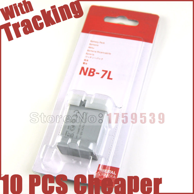 NB-7L NB7L NB 7L Camera Battery Canon G10 G11 G12 SX30IS SX30 IS Batteries  -  GTBB Flagship Store store