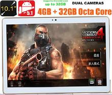 DHL Free Shipping 10 inch 3G 4G LTE Tablet Octa Core 4GB RAM 32GB ROM IPS 1280*800 Dual Cameras Android 5.1 10.1 Tablet+Gifts(China (Mainland))