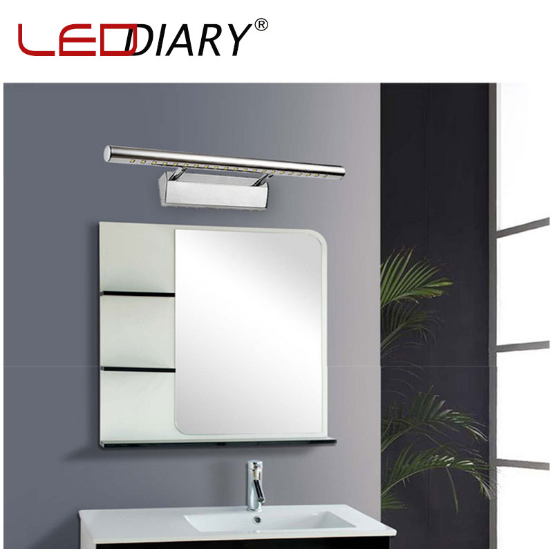 High Quality 7W 55cm LED Mirror Front Wall Lamp 90-260V Stainless Steel Dressing Table Sconces LED Wall Lamps 5050 Picture light(China (Mainland))