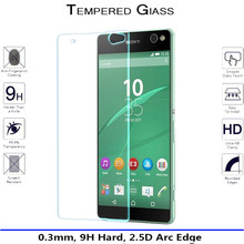 New 9H 2.5D Premium Explosion-proof Tempered Glass Screen Protector For Sony Xperia C5 Ultra Dual Protective Glass Screen Film