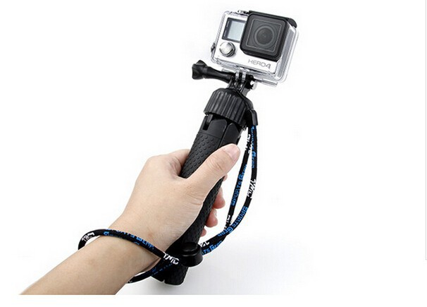 Go pro Adjustable Tripod 360 Degree 2-Way monopod Wrist Strap for GoPro Hero 4 Session 3+3 xiaomi yi Camera accessories