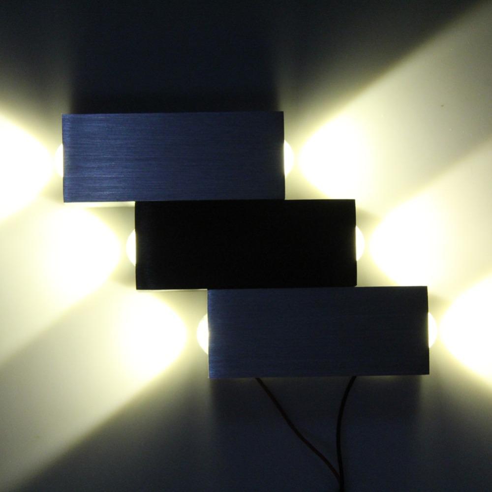 Modern 6W High Power 6 LED Up Down Hall KTV Gallery Wall Lamp Sconce Spot Light Aluminum 2015 Free Shipping