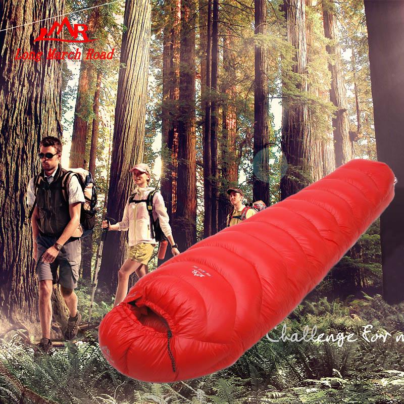 Duck down 3 sizes 1500g filling winter hiking climbing riding trekking on foot ultra-light outdoor camping mummy sleeping bag