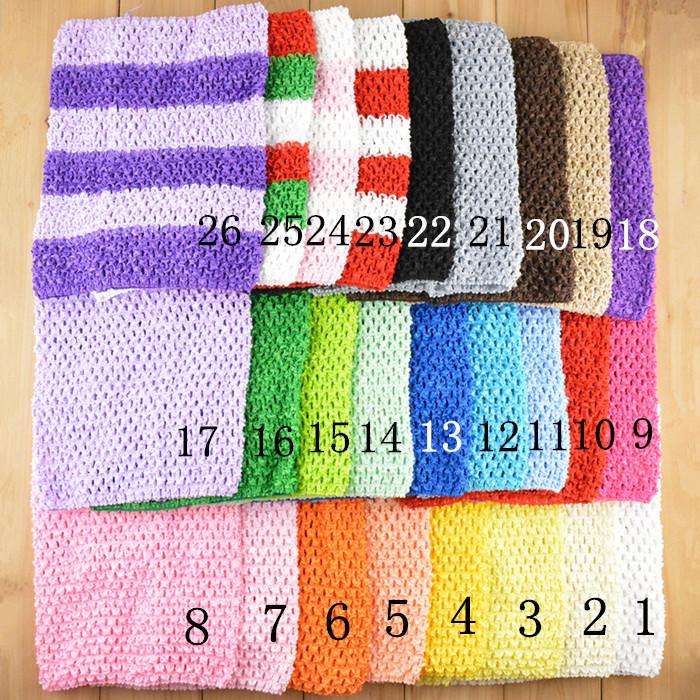 New Arrival 20cm X 23cm Baby Girl 9Inch Crochet Tutu Tube Tops Chest Wrap Wide Crochet headbands Free Shipping 5pcs/lot(China (Mainland))