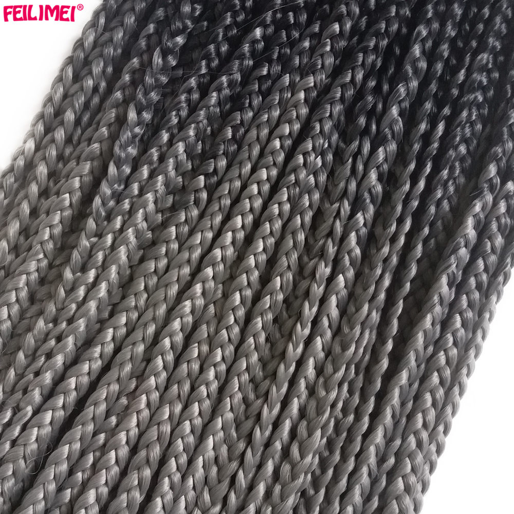 gray crochet hair