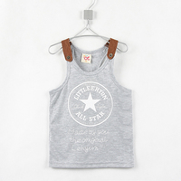 2015 Free Shipping Super Star Letters Bottoming Vests Boys Summer Cool  Tops  C0027