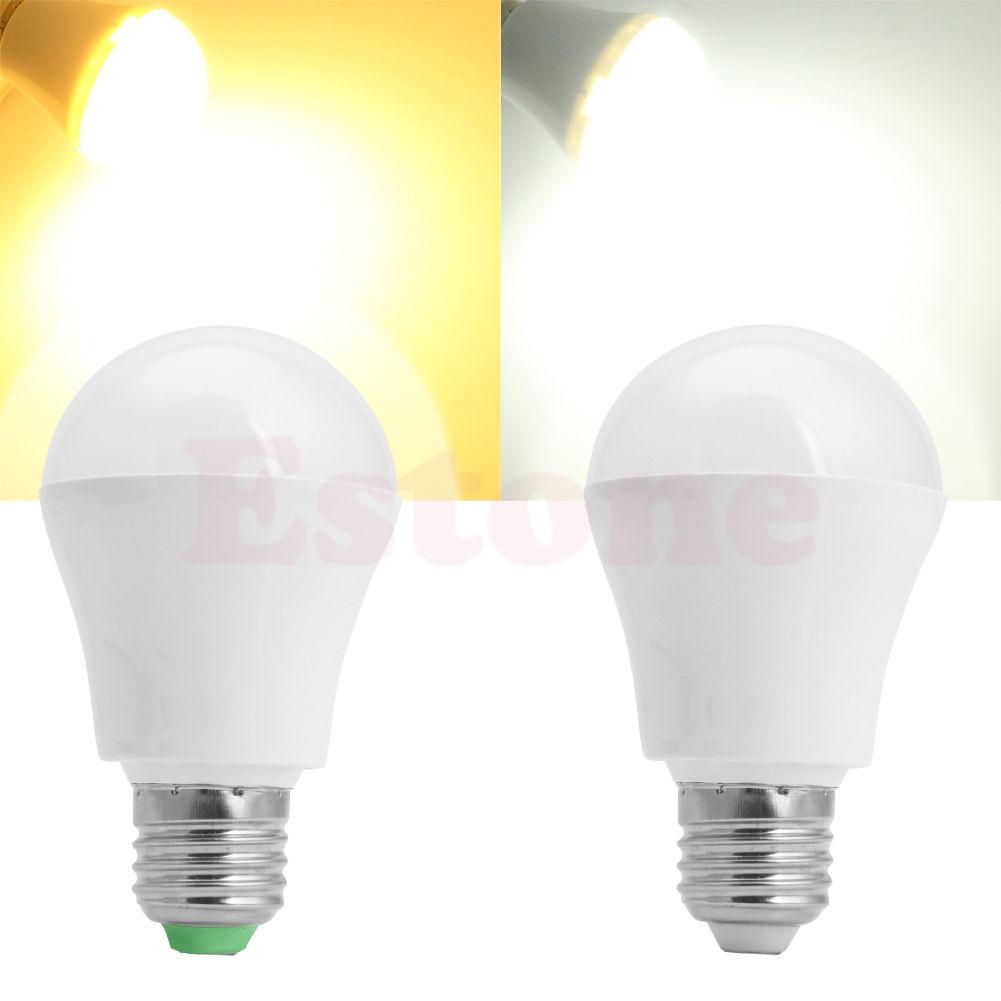 AC 110V 220V E27 25LED 5W Motion Control PIR Sensor light Bulb Cool Warm White(China (Mainland))