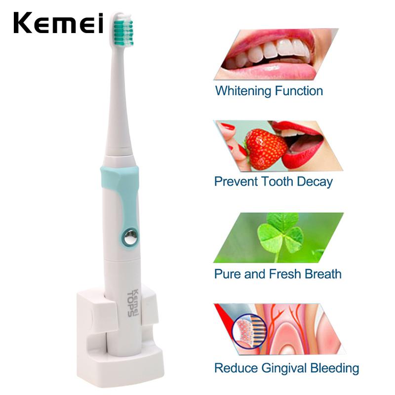 O Sonic escova de Dentes Elétrica À Prova D' Água Recarregável Substituição Cabeças Escova de Dentes Escova de Dente Dentes Branqueamento Teethbrush + Macio