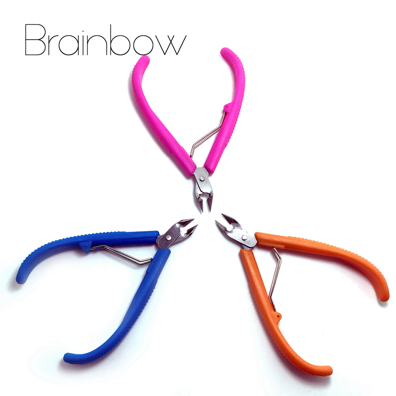 Brainbow 1pc Finger Toe Cuticle Scissors Cuticle Nipppr Trimmer Cutter for Pedicure Manicure Nail Art Tool for Dead Skin Cuticle