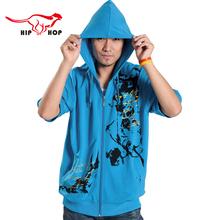2016 Fashion Hoodies Men Half Sleeve Print Hip Hop Hoodie Sweatshirt Mens Sport Jogging Tracksuit Sudaderas Hombre XXXXXL 138(China (Mainland))