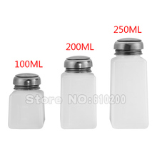 3PCS 250ML/200ML/100ML Alcohol Liquid Press Pumping Dispenser Cleaning Cleaner Bottle  PCB clean for Nail Polish Remover(China (Mainland))