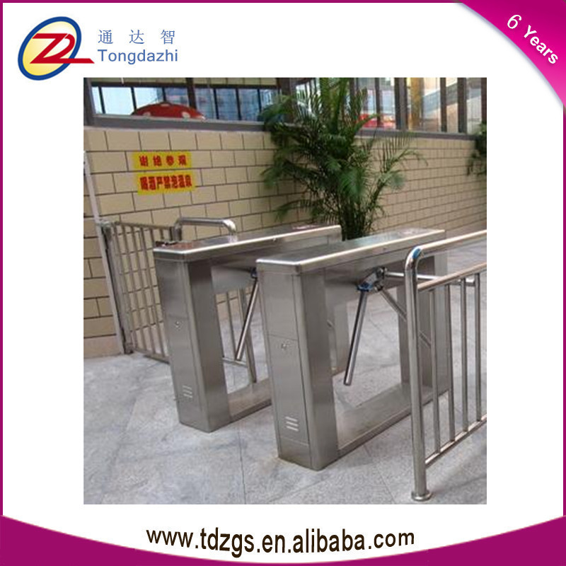 Shenzhen CE ApprovedThree Arm Auto TCP/IP tripod turnstile gates with RFID reader(China (Mainland))