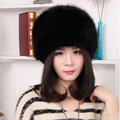Faux Fur Bomber Hat Winter Solid Color Women Hat Russian Thick Cap Keep Ear Warm Beanies