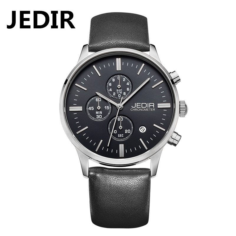 JEDIR Men Quartz wrist watches fashion leather man watch male casual style dress watchwaterproof rose gold relogio famous brand(China (Mainland))