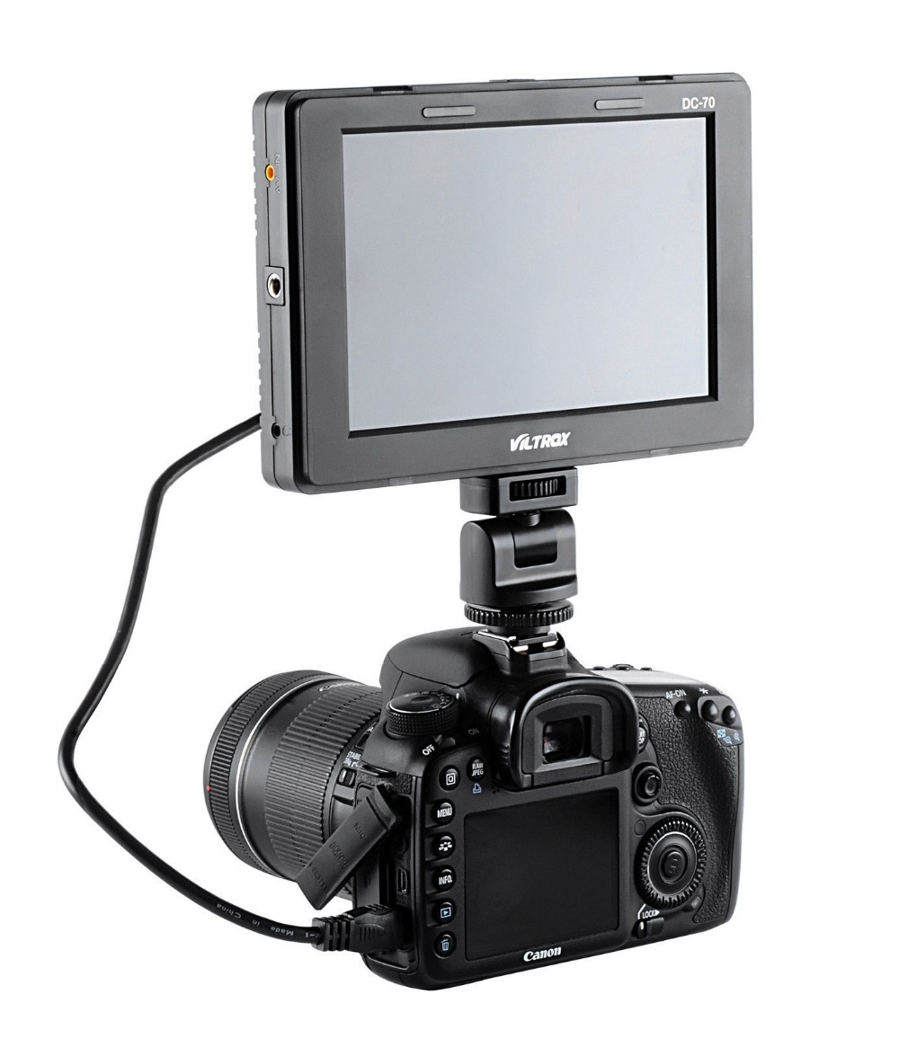 VILTROX Newest TFT 1280*800 HDMI in/out 7'' inch LCD Monitor for Canon Nikon Sony <font><b>Panasonic</b></font> <font><b>DSLR</b></font> Cameras as Viltrox DC-70 DC-50
