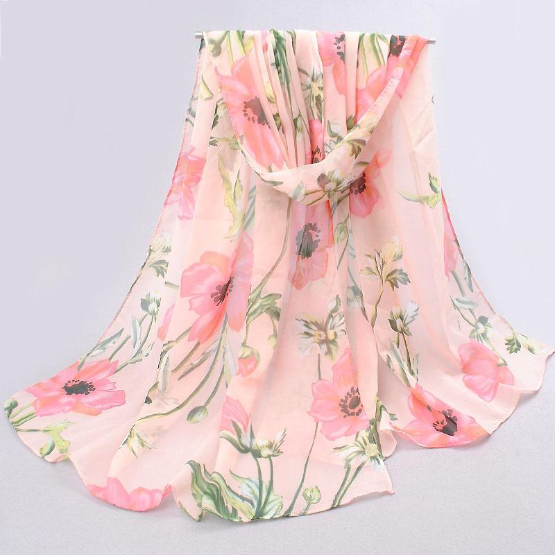 Summer Chiffon Silk Scarf Women 2016 Long Ladies Scarves Foulard Scarfs Women Scarf Shawl Wrap Tippet Foulards Femme Bufandas(China (Mainland))