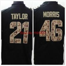 FRee Shipping 46 AlfRed Morris 21 Sean Taylor Black Salute TO Service Jersey(China (Mainland))