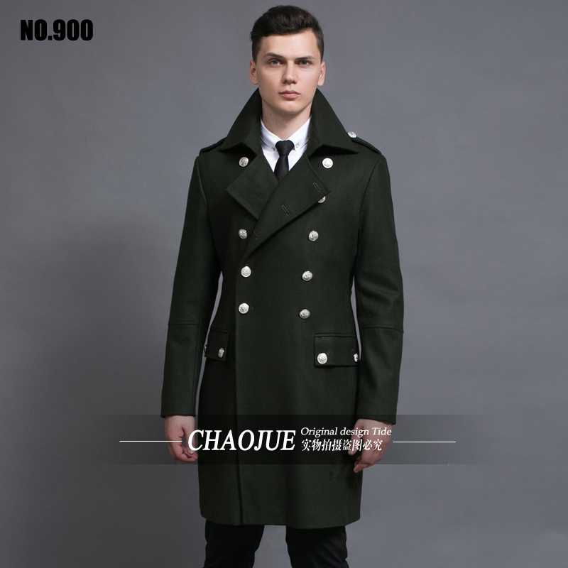 Design mens coats and jackets S-6XL oversized tall and big men green woolen coat germany army navy pea coat free shipping Одежда и ак�е��уары<br><br><br>Aliexpress